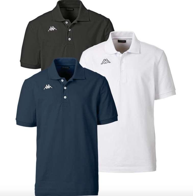 3er Pack Kappa Poloshirts aus gekämmter Baumwolle für 31,99€ inkl. Versand (statt 39€) + gratis Uhr