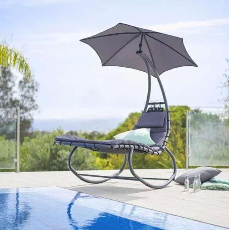 Modern Living Garten Relaxliege in Anthrazit/Schwarz für 112,51€ inkl. Versand (statt 144€)