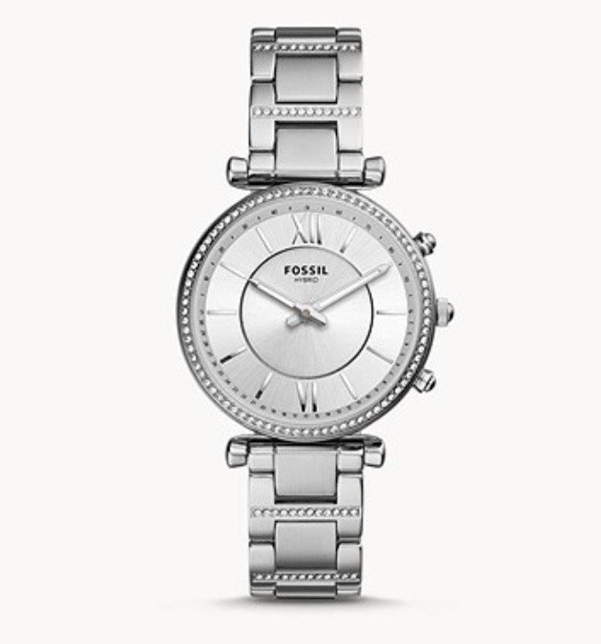 Fossil FTW5041 Carlie - Damen Hybrid Smartwatch aus Edelstahl für 100€ inkl. Versand (statt 199€)