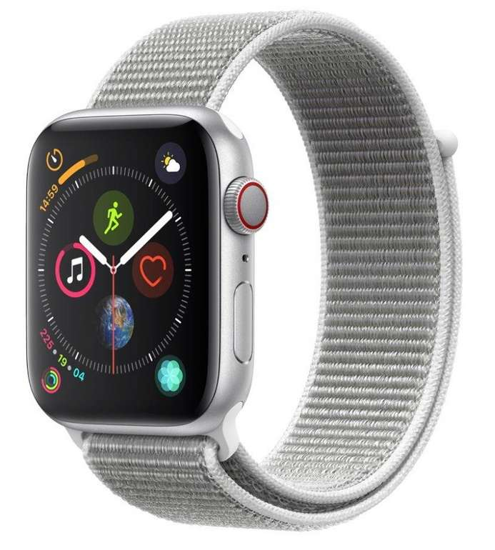 Apple Watch Series 4 (GPS + Cellular) 44mm mit Sport Loop für 380,97€ inkl. Versand (statt 498€)
