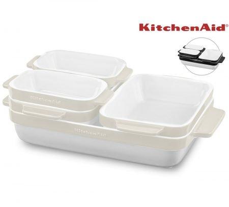 KitchenAid 5-tlg Keramikformen-Set schwarz oder creme für 58,90€ inkl. Versand
