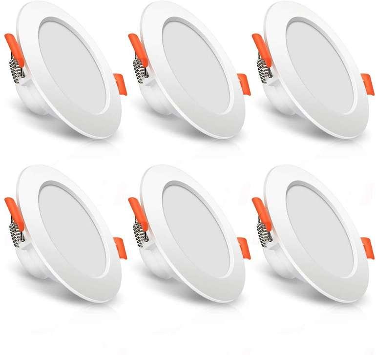 Solmore 6er Pack Einbaustrahler (7W, 3000K, IP44) für 18,89€ inkl. Prime Versand (statt 22€)