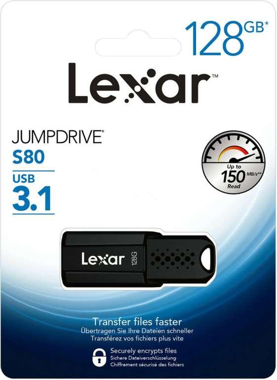 Lexar JumpDrive S80 - 3.1 USB-Stick mit 128GB Speicher für 11,84€ inkl. Versand (statt 19€)