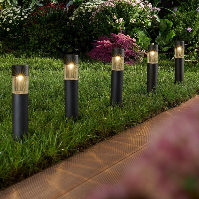 5er-Set LED Solarleuchten mit 33cm für 4,99€ zzgl. VSK
