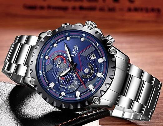 Analoge Herren Uhr von Lige für 23,09€ (Prime) statt 32,99€