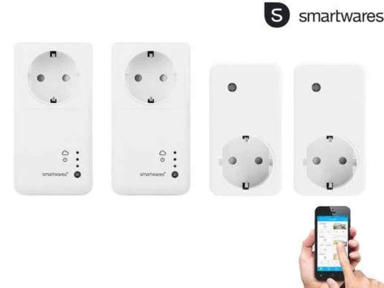 Smartwares SH4-99951NE Intelligentes Schalter Set (2 Schalter, 2 Empfänger, 30m Reichweite, Alexa komp.) für 25,90€