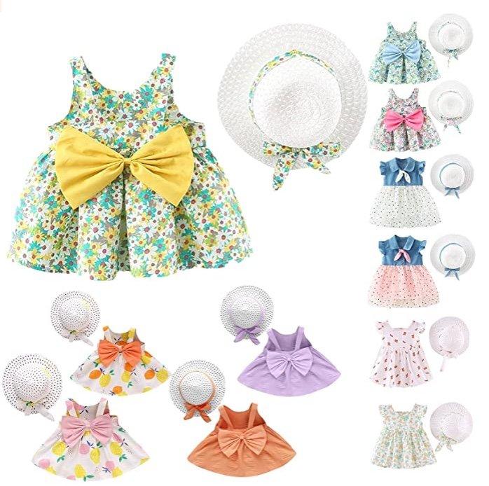 Chlry Baby bzw. Mädchen Sommerkleid Set mit Hut ab 5,79€ inkl. Versand (statt 10€)