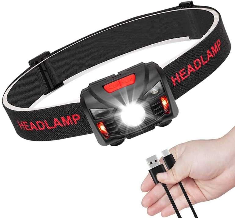 3 Produkte bei Amazon dank Gutschein reduziert, z.B. Linkax LED Stirnlampe für 3,99€