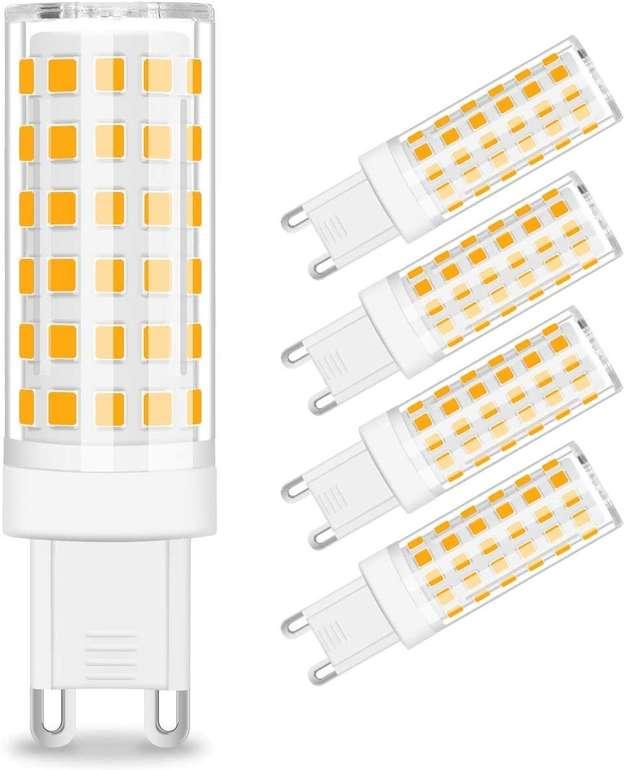 Kingso 5er Pack G9 LED Lampen (8W, 3000K) für 8,39€ inkl. Prime Versand (statt 14€)