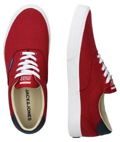 Jack & Jones Sneaker 'JFWMORK CANVAS' in rot/weiß für 20,77€ inkl. Versand (statt 25€)
