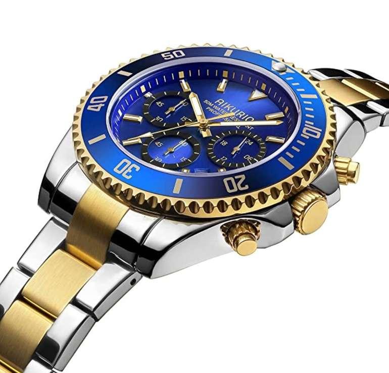 Herren Uhren Chronograph ab 20,51€ inkl. Prime Versand (statt 37,99€)
