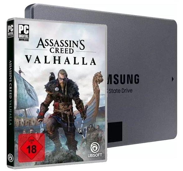 Assassins Creed Valhalla (PC) + Samsung 870 QVO 1TB SSD für 99€ (statt 132€) - Newsletter Gutschein
