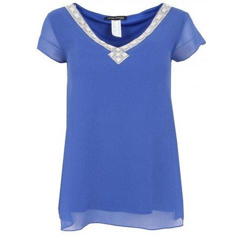Ashley Brooke Damen Blusen Shirt (3754) in Blau für 7,99€ (zzgl. Versand)