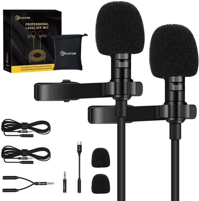 Eivotor 2er-Set Lavalier Ansteckmikrofone mit Typ-C Adapter für 12,45€ inkl. Prime Versand (statt 18€)