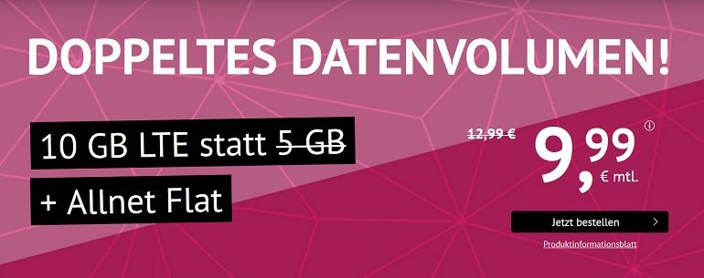 o2 Allnet & SMS Flat mit 10GB LTE