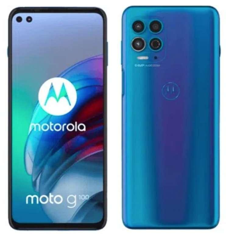 Effektiv mit Gewinn: Motorola Moto G100 mit 128GB Speicher (29€) + o2 Allnet Flat mit 9GB LTE für 12,49€ mtl.