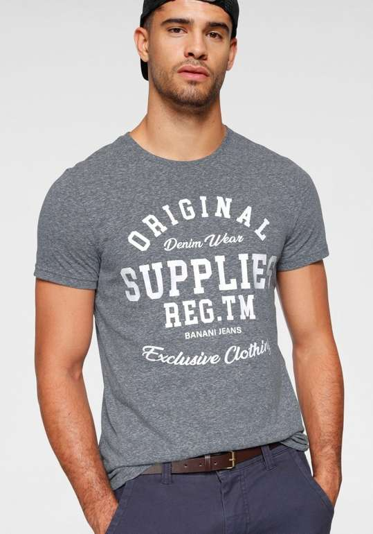 Bruno Banani Herren Print T-Shirt in 2 Farben für je 14,64€ inkl. Versand (statt 18€)