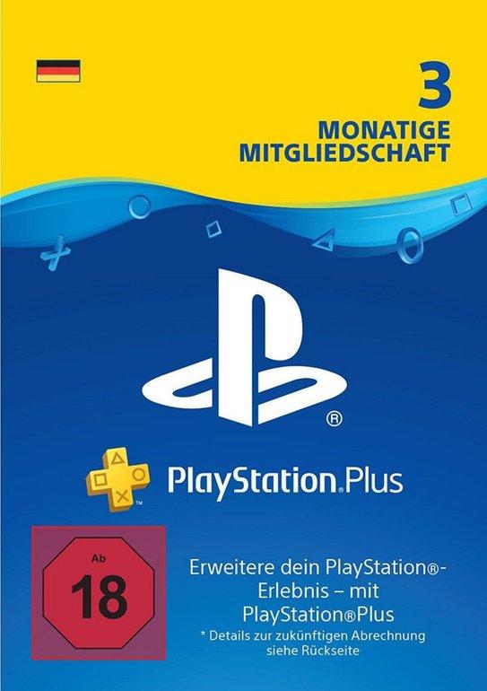 3 Monate Sony PlayStation Plus für 15,99€inkl. Versand