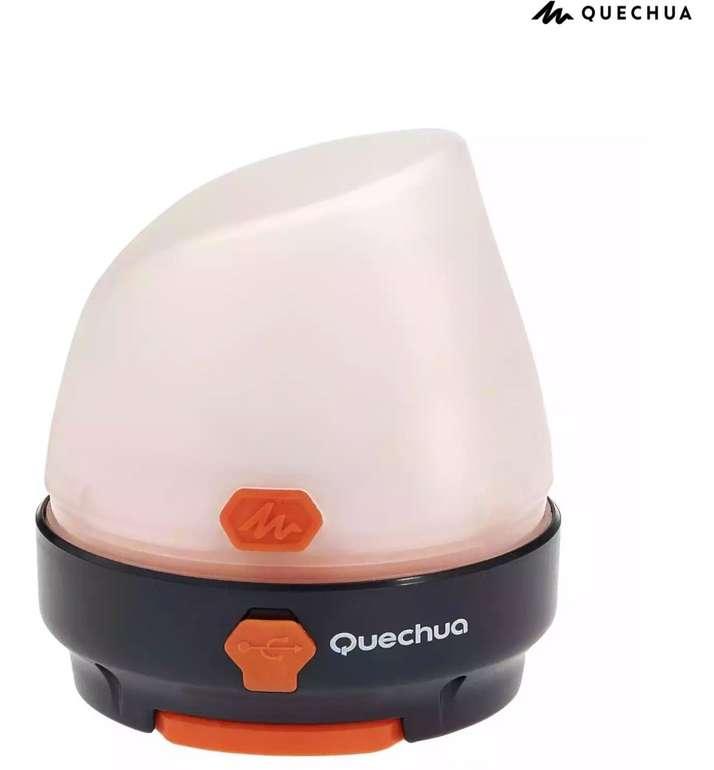Quechua BL Campinglampe (50 Lumen, wiederaufladbar via USB oder Dynamo) für 13,98€ (statt 19€)
