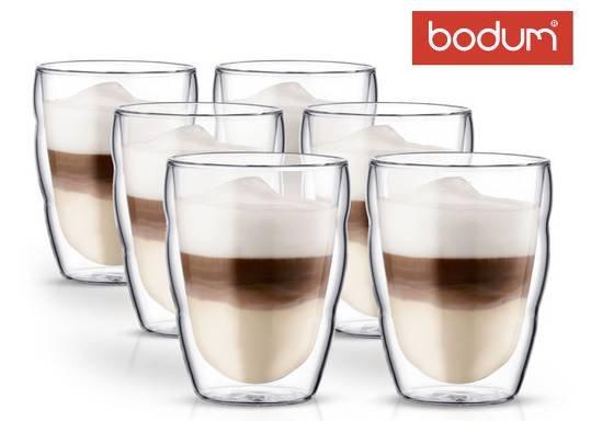 Bodum Pilatus Set aus 6 doppelwandigen Gläsern für 19,99€ bei Abholung (statt 40€)