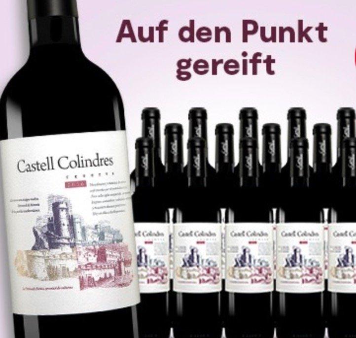 15 Flaschen Castell Colindres Reserva 2016 (Rotwein, trocken) für 49,41€ inkl. Versand (statt 104€)