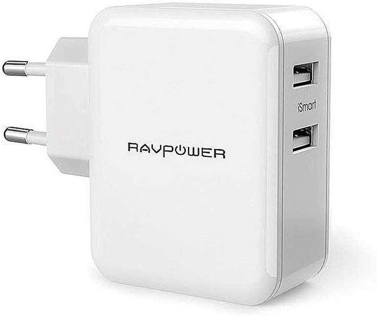 RAVPower 2-Port USB Ladegerät (24W) für 7,99€ inkl. Prime VSK