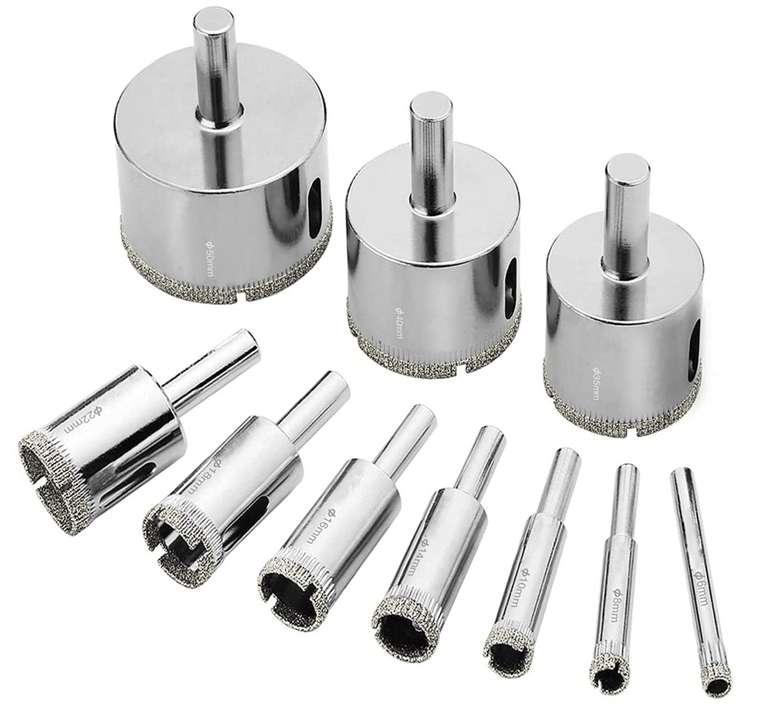 10x TTTTTTT Glasbohrer Diamantbohrer (6mm-50mm) für 7,49€inkl. Prime Versand (statt 15€)