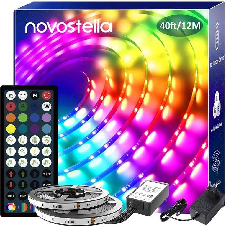 Novostella RGB LED Strip mit 12 Meter (wasserdicht) mit Fernbedienung für 29,99€ inkl. Prime Versand (statt 60€)