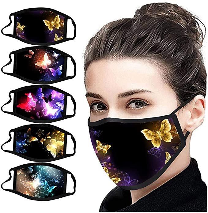 Huyuri 5er Pack Mund-Nasen-Masken mit Schmetterlingen ab 4,99€ inkl. Versand (statt 7€)
