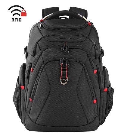 Kroser - 17,3 Zoll Laptop Reise XL Rucksack mit USB-Anschluss & RFID für 28,59€