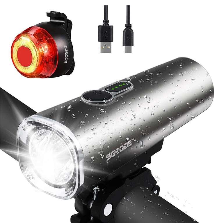 Sgodde LED Fahrradlicht Set für 15,49€ inkl. Prime Versand (statt 30,99€)