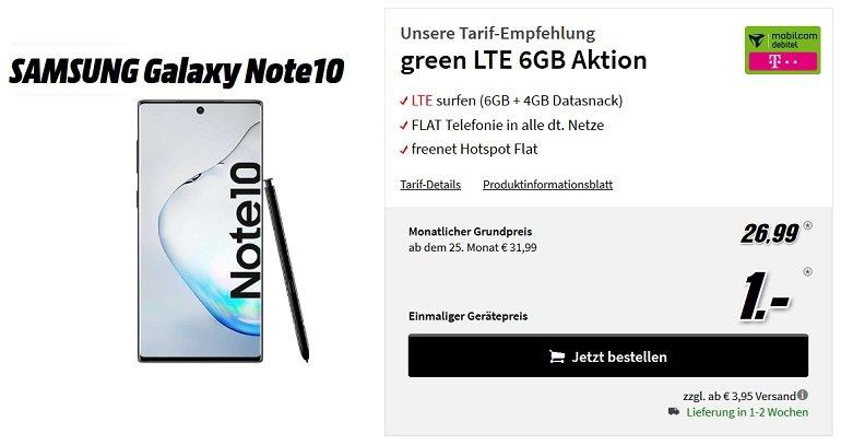 Samsung Galaxy Note10 Telekom Allnet-Flat 6GB LTE