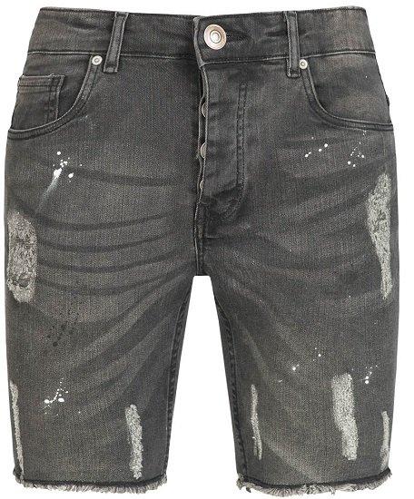 Brave Soul Morton Denim Herren Ripped Jeans Shorts