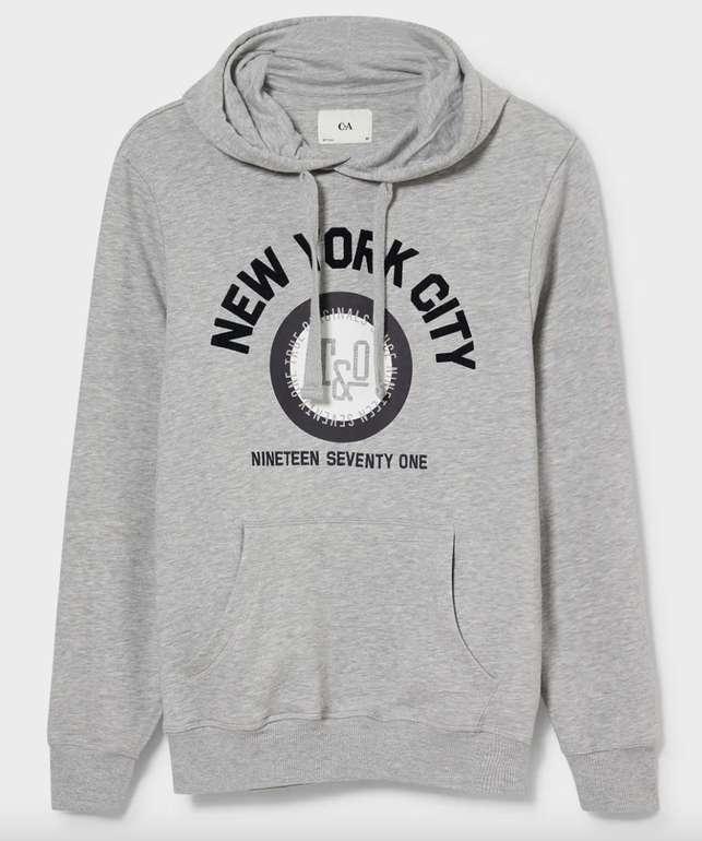 C&A Herren Hoodie im New York Style für 11,24€ inkl. Versand (statt 20€)