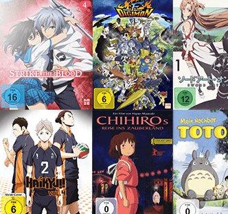 3 für 2 Anime Aktion bei Saturn - 3 Filme (DVD, Blu-ray) kaufen und nur 2 zahlen