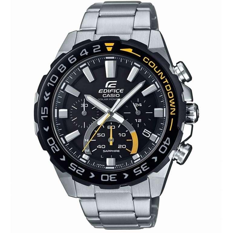 """Casio Herren Chronograph Edifice """"EFS-S550DB-1AVU"""" (solarbetrieben) für 79,99€ (statt 159€)"""