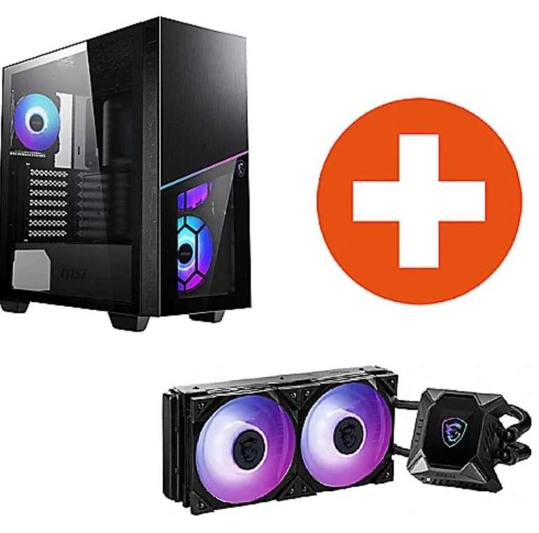 Bundle: MSI MPG Sekira 100R ARGB Gaming Gehäuse + MSI MPG Core Liquid K240 Wasserkühlung für 199€