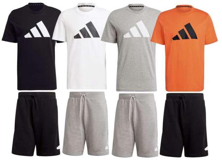 2-tlg. Adidas Freizeit Outfit aus 100% Baumwolle (T-Shirt & Shorts mit Reißverschlusstaschen) für 39,95€