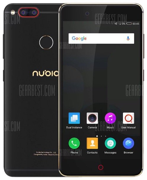 "Nubia Z17 Mini 5,2"" LTE-Smartphone mit 4GB RAM, 64GB + Fingerprint für 157,53€"