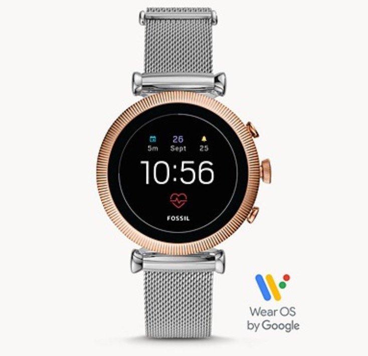 Fossil FTW6043 Sloan - Damen HR Smartwatch (4. Generation, Milanaise) für 126,65€ (statt 149€)