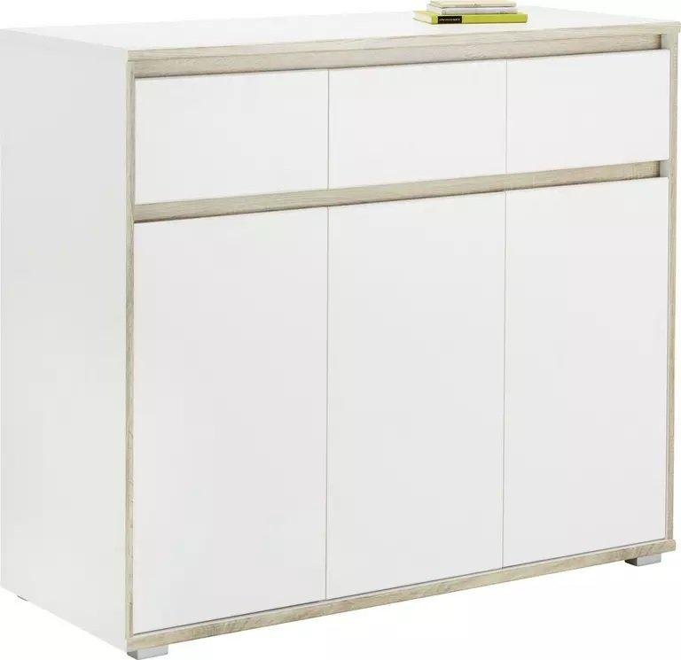 Mömax Sideboard in Weiß/Sonoma Eiche für 99,25€ inkl. Versand (statt 129€)