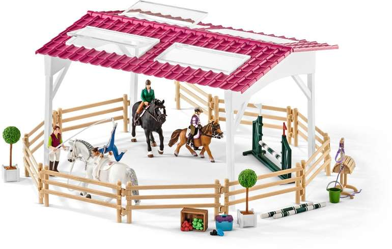 Schleich - Reitschule mit Reiterinnen und Pferd (42389) für 29,66€ (statt 39€)