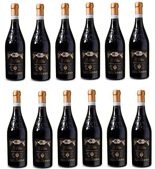 12 Flaschen Miliasso - 8 Vites - Piemonte DOC Rosso 2016 für 63,40€ inkl. VSK