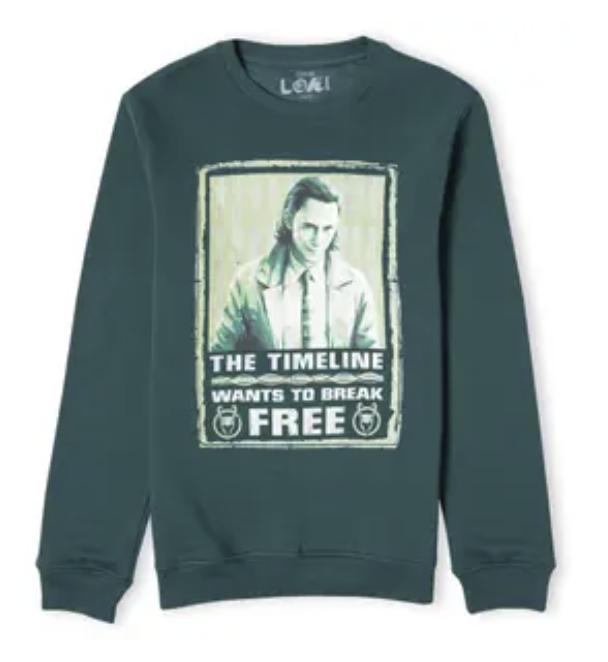 Zavvi: Loki Sweatshirt in Forest Green für 18,99€inkl. Versand (statt 27€)