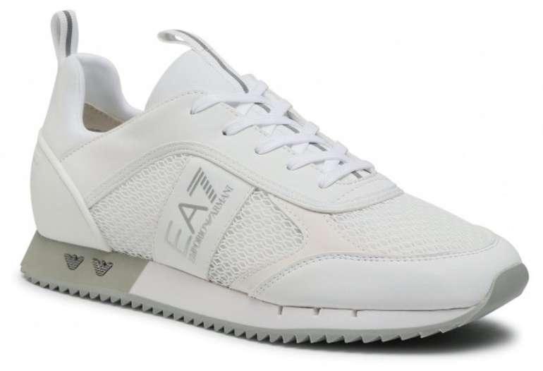 Emporio Armani EA7 Sneaker in Weiß und Blau für 128€ inkl. Versand (statt 160€)