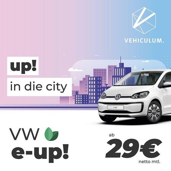Gewerbe Leasing: Volkswagen E-Up! mit 83 PS für 29€ netto mtl. (BAFA, LF: 0,16, 36 Monate, 10.000 km)