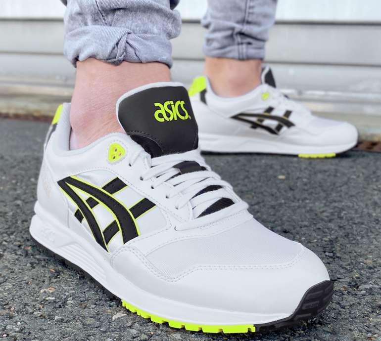 Asics GEL Saga Sneaker in weiß/gelb für 48,94€ inkl. Versand (statt 58€)