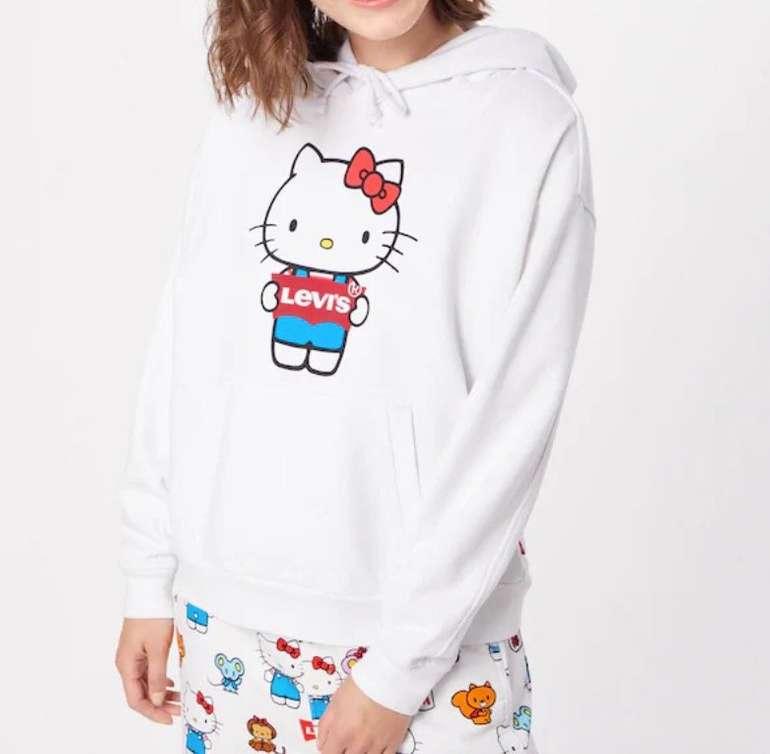 Levi's Damen Sweatshirt 'Unbasic Hoodie' in weiß für 22,45€ inkl. Versand (statt 69€) - nur in XS und S!
