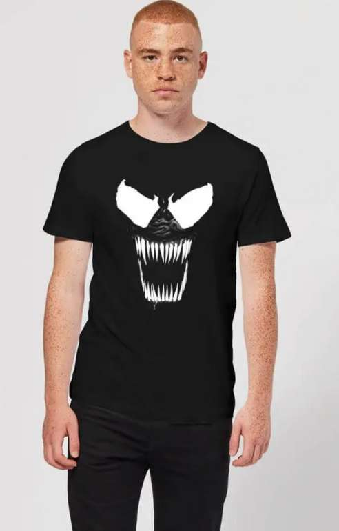 Marvel Venom Bare Teeth Herren T-Shirt in Schwarz für 9,99€inkl. Versand (statt 18€)