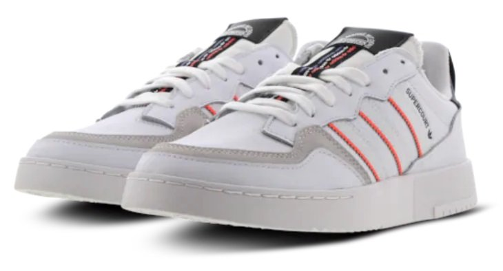 "adidas Supercourt Herren Sneaker im ""White/-Black/-Red-Colorway"" für 49,99€ (statt 65€)"